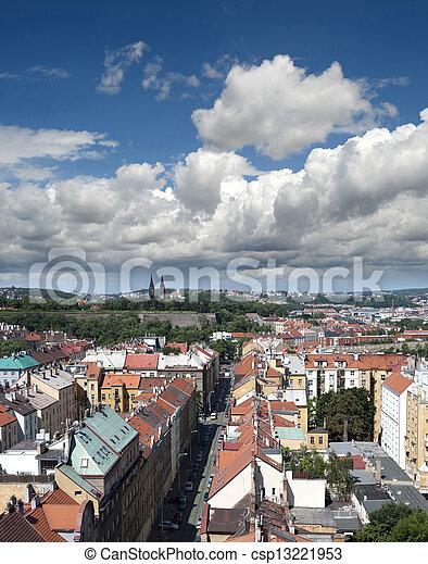 Prague - Nusle Quarter, Nusle Valley with historic Vysehrad - csp13221953