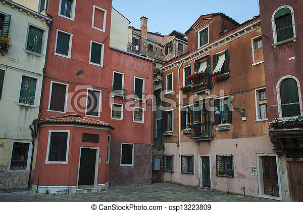 Residential buildings in Venice - csp13223809