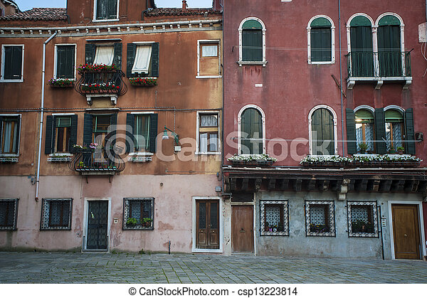 Residential buildings in Venice - csp13223814