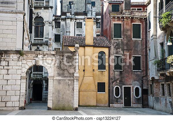 Residential buildings in Venice - csp13224127