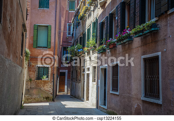 Residential buildings in Venice - csp13224155