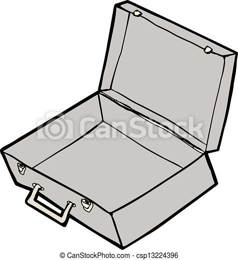Vecteurs eps de vide valise empty valise ouverte - Dessin de valise ...