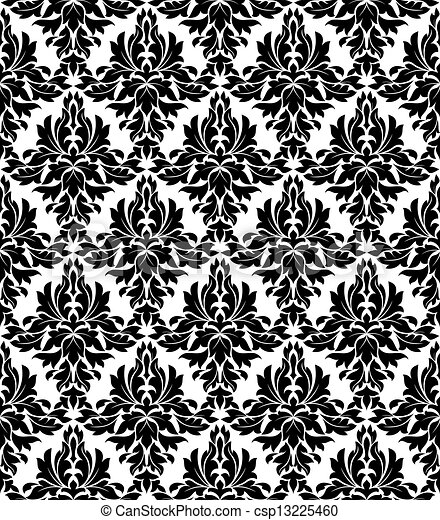 Seamless background in retro damask style - csp13225460