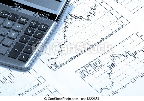 Calculator and finance charts. - csp1322651