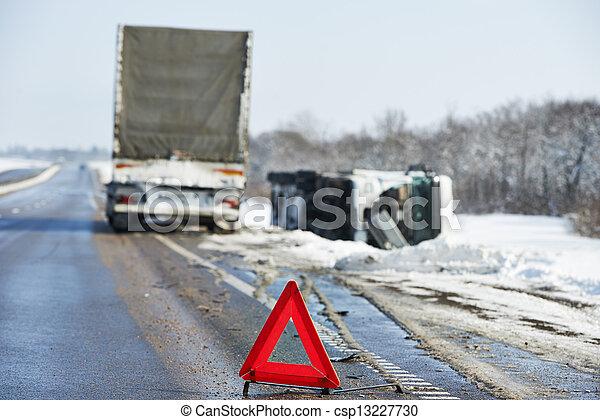 winter car crash - csp13227730
