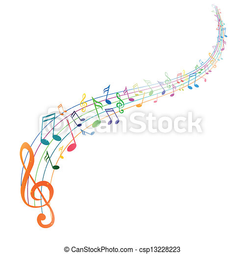 Vector Background with Music notes - csp13228223