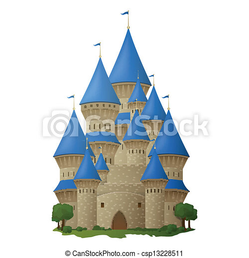 Vector Clipart of Beautiful castle - Vector illustration of a ...