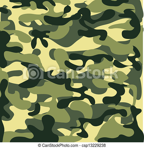 Classic Seamless Military Camouflage Pattern - csp13229238