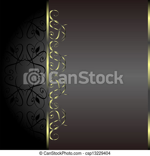 Holiday Background. Greeting Card. Gold flower - csp13229404