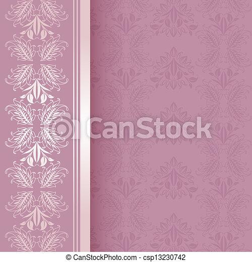Wedding invitational, square - csp13230742