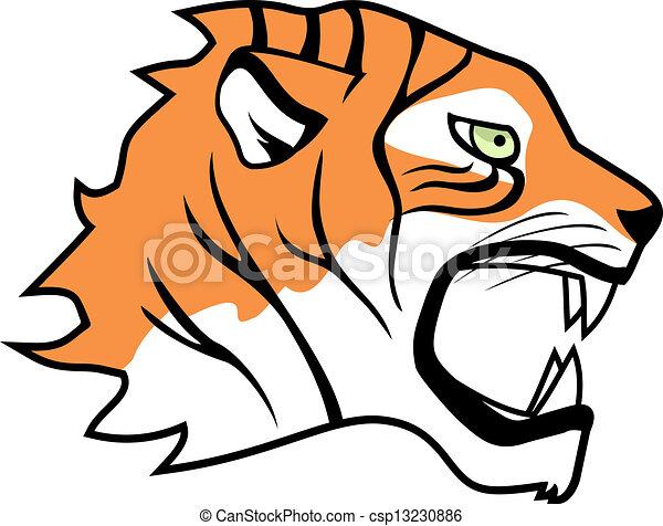 Dibujo cara de tigre - Imagui