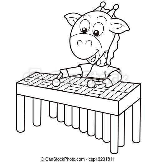 Dibujo de marimba - Imagui
