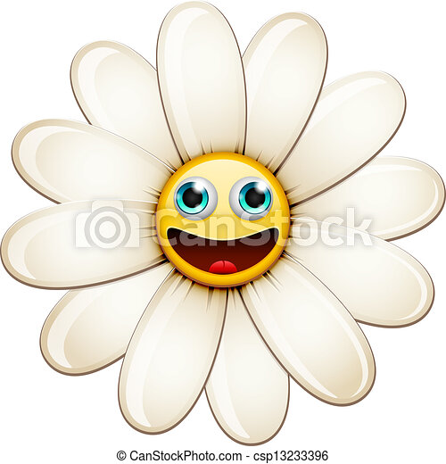daisy - Cartoon Smiling flower, happy... csp13233396 - Search Clip Art ...