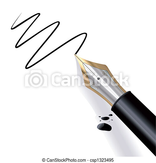 Writing Fountain pen - csp1323495