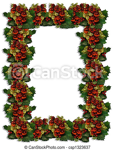 Christmas Frame of ornaments