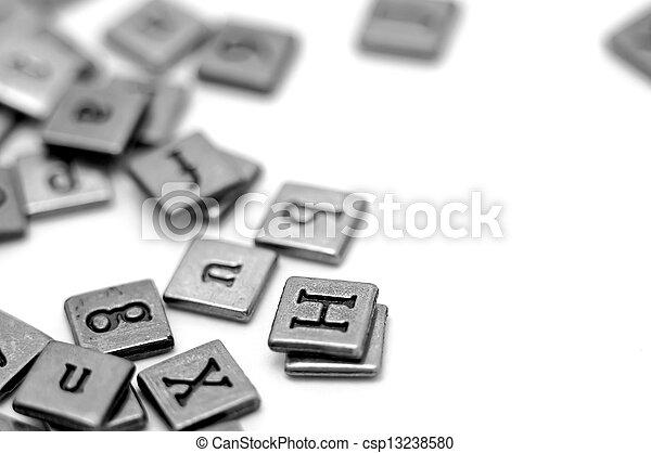Metal scrapbooking letters - csp13238580