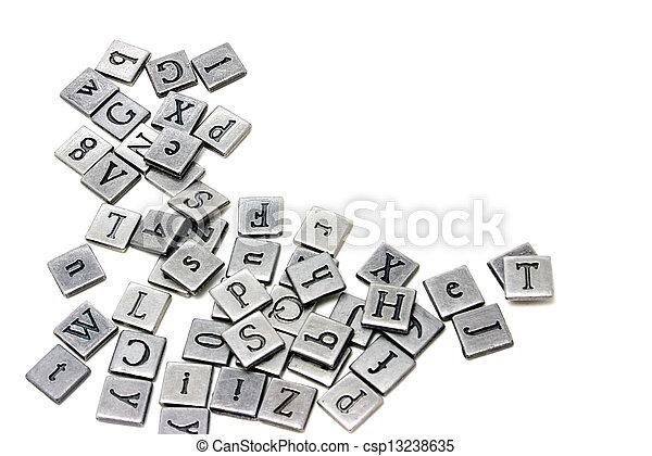 Metal scrapbooking letters - csp13238635