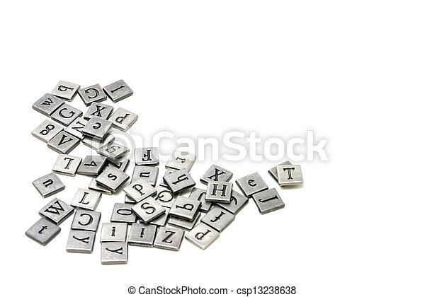 Metal scrapbooking letters - csp13238638