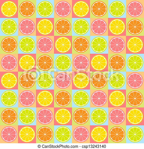 Seamless citrus pattern - csp13243140