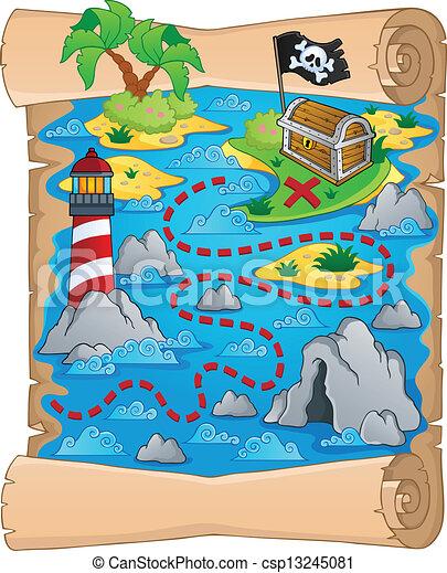 Treasure map theme image 5 - csp13245081