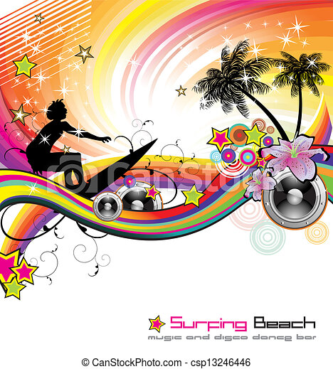 Tropical Music Event Flyer - csp13246446