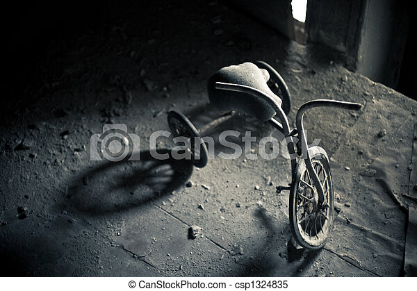 Abandoned tricycle - csp1324835