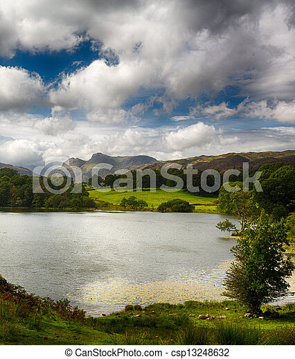 Loughrigg Tarn in Lake District - csp13248632