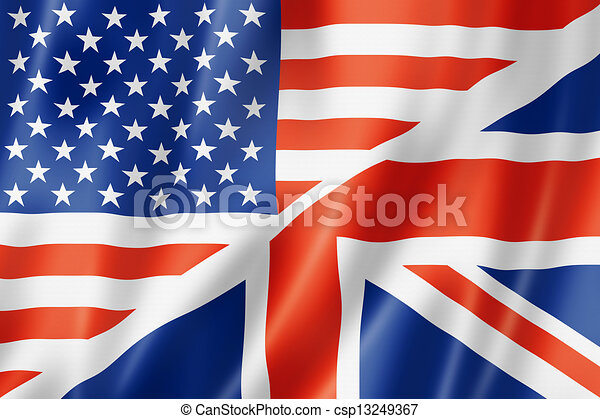 United States and British flag - csp13249367