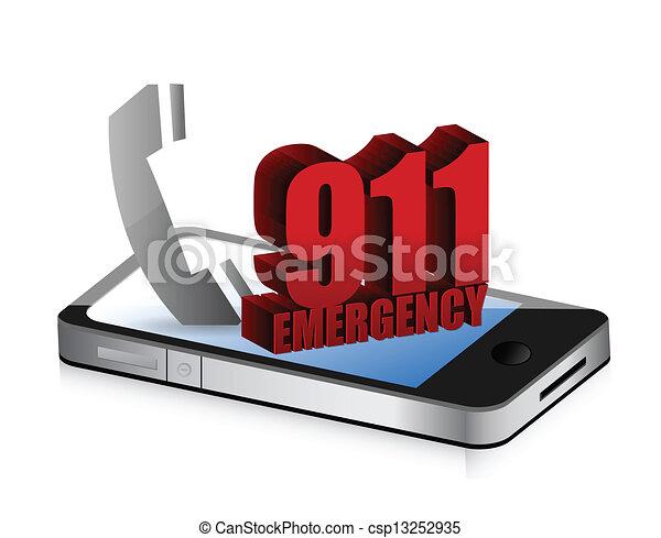 Emergency smartphone call - csp13252935