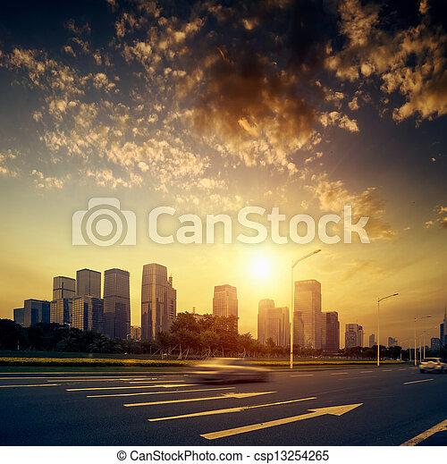 estrada cidade - csp13254265