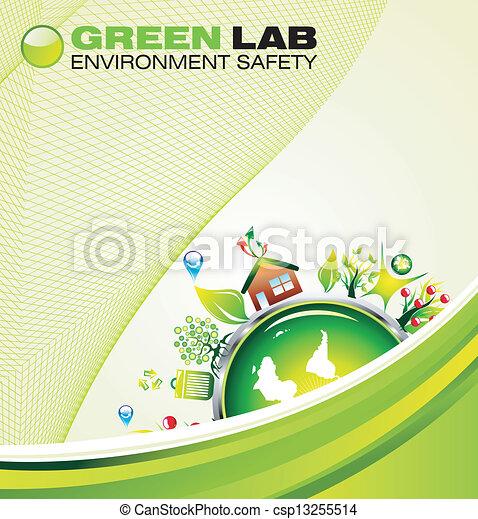 Environment Green Background - csp13255514