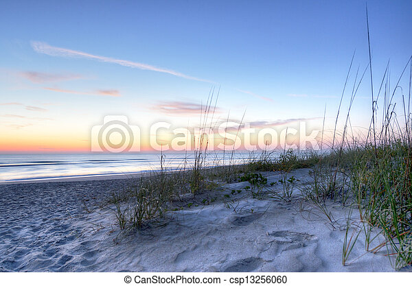 Sunrise in Melbourne Beach, Florida - csp13256060