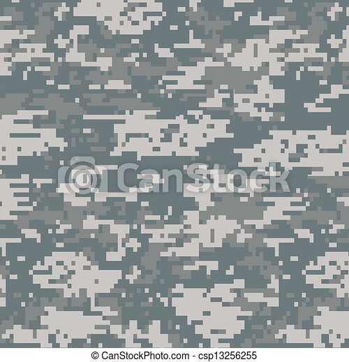 Digital camouflage seamless pattern - csp13256255