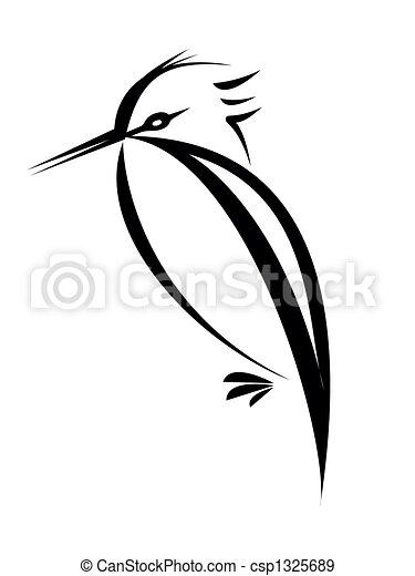 illustration de oiseau tatouage oiseau silhouette isol sur blanc csp1325689. Black Bedroom Furniture Sets. Home Design Ideas