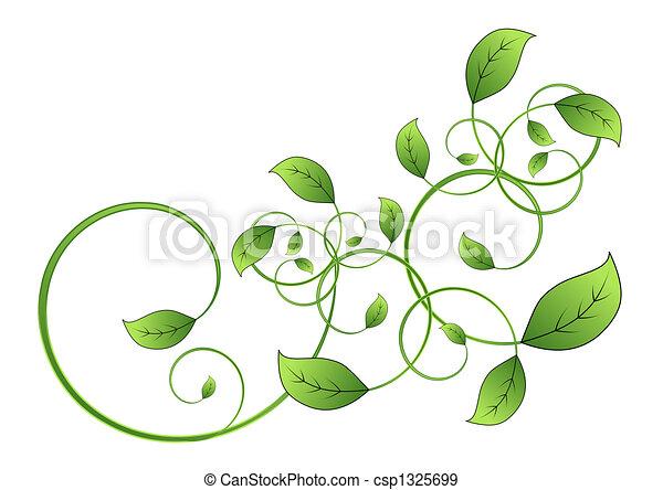 有关葡萄树, 叶子 - 植物群