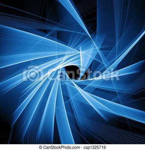 blue spiral rays - csp1325719