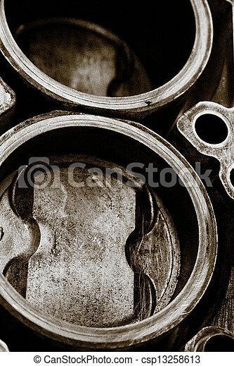 automobile cylinder block  - csp13258613