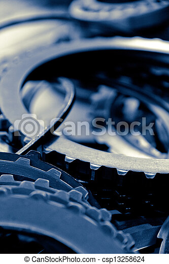 automobile gear assembly background - csp13258624