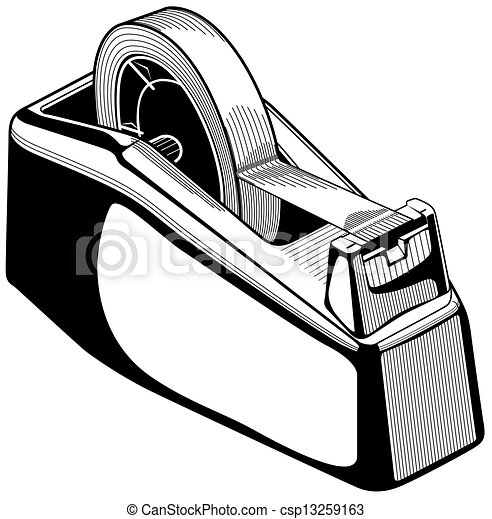 Clip Art Vector of Adhesive tape dispenser csp13259163 - Search ...