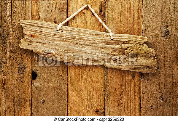 photo de bois planche signe ficelle bois flottant vieux csp13259320 recherchez des. Black Bedroom Furniture Sets. Home Design Ideas