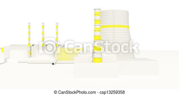 Nuclear Power Station - csp13259358
