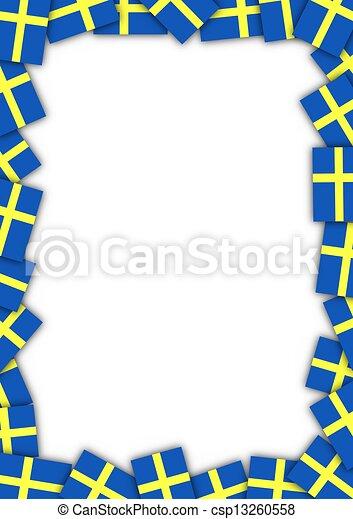 Sweden flag border - csp13260558
