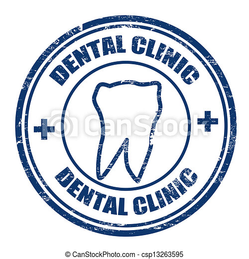 Dental clinic stamp - csp13263595