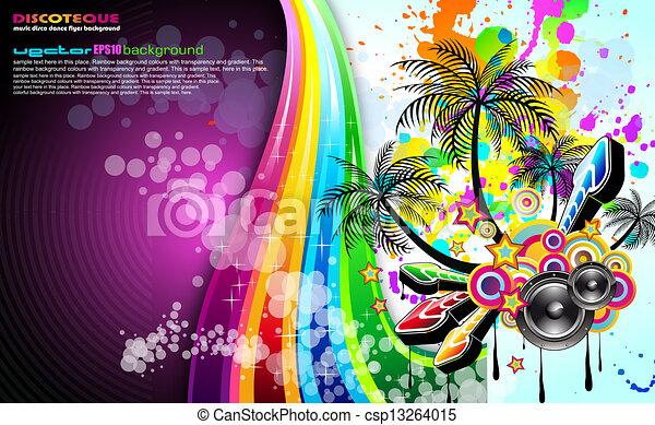 Tropical Music Event Disco Flyer  - csp13264015
