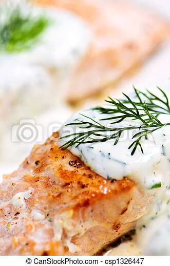 Cooked salmon - csp1326447