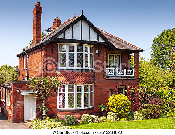 Typical english residential estate - csp13264620
