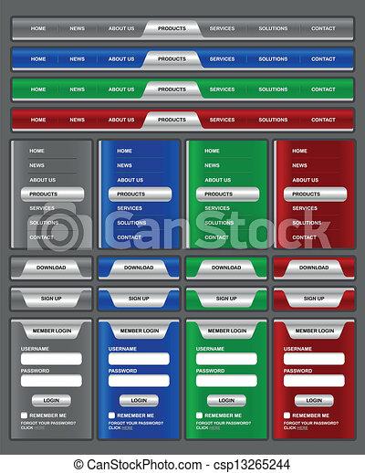 menu de navigation html télécharger counter