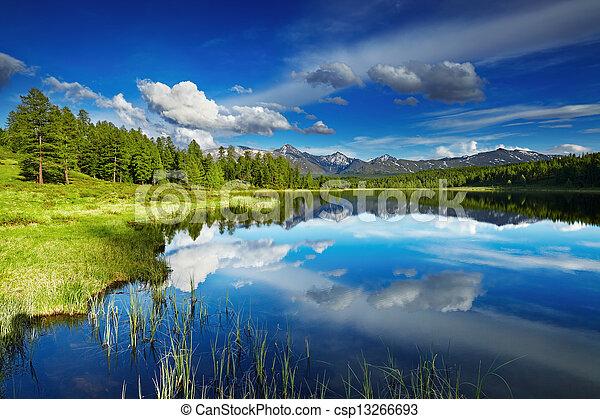 Mountain lake - csp13266693