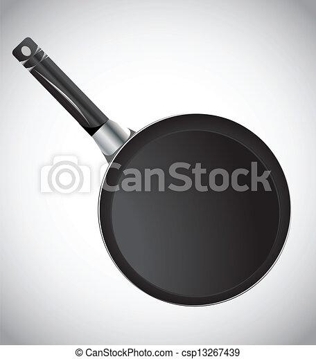 Frying pan, vector - csp13267439