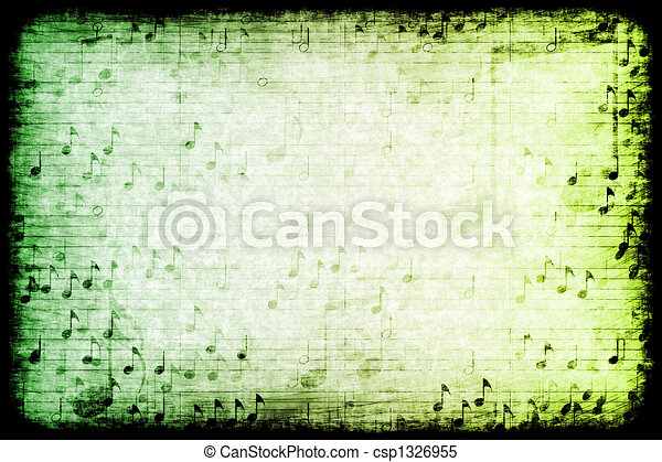 Music Themed Abstract Grunge Background - csp1326955